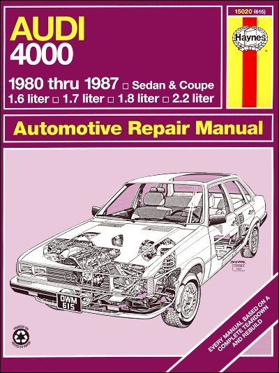 1980 1987 audi 4000 sedan coupe repair manual haynes 15020 rh themotorbookstore com 2 Liters in Ounces 2 Liters in Ounces