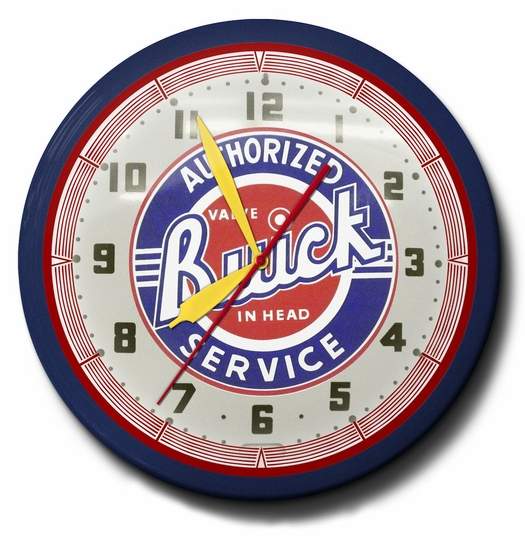 Authorized Buick Service Neon Clock: High Quality and Licensed