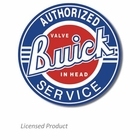 """Authorized Buick Valve-In-Head Service"" Tin Sign"
