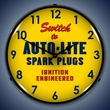 Autolite Spark Plugs Wall Clock, LED Lighted