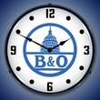 B&O Railroad 2 Wall Clock, LED Lighted