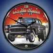 Bad Ass Gasser Wall Clock, Lighted: Larry Grossman Art