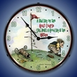 Bad Day on the Golf Course Wall Clock, LED Lighted: Sports