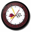 Banded Corvette Logo Neon Clock, High Quality