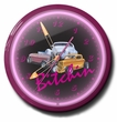 Bitchin 3 Hot Rods Neon Clock, High Quality, 20 Inch