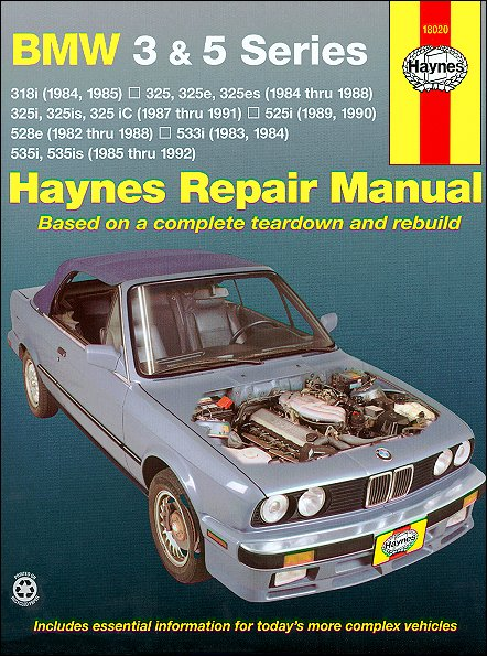 bmw 3 series 5 series repair manual 1982 1992 haynes. Black Bedroom Furniture Sets. Home Design Ideas