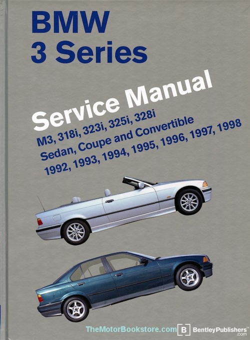 bmw 3 series e36 repair manual 1992 1998 m3 318i 323i 325i 328i rh themotorbookstore com