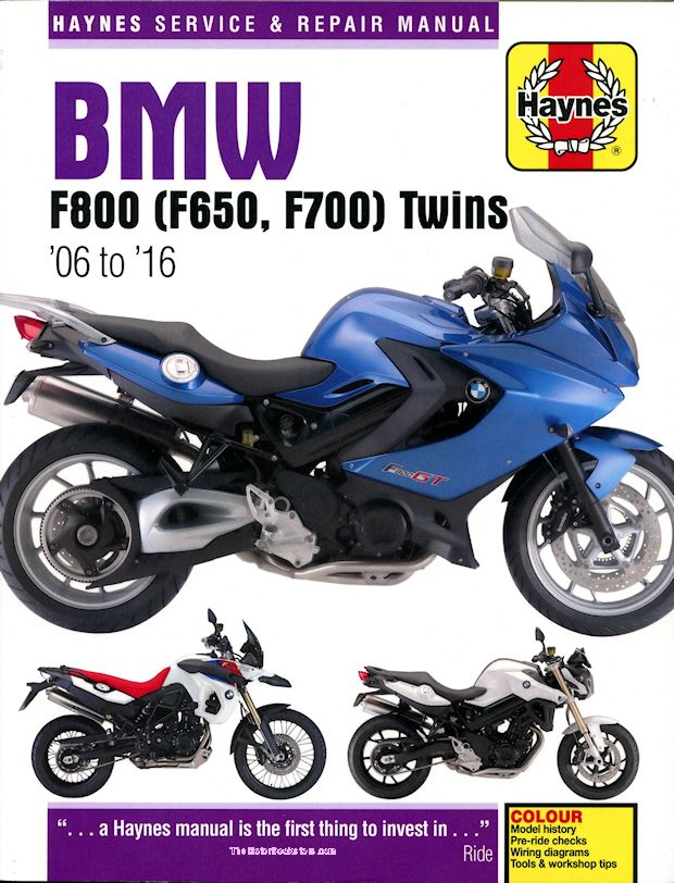 bmw f800 f700 f650 twins repair manual 2006 2016 haynes rh themotorbookstore com bmw motorcycle manuals for sale bmw motorcycle manuals online