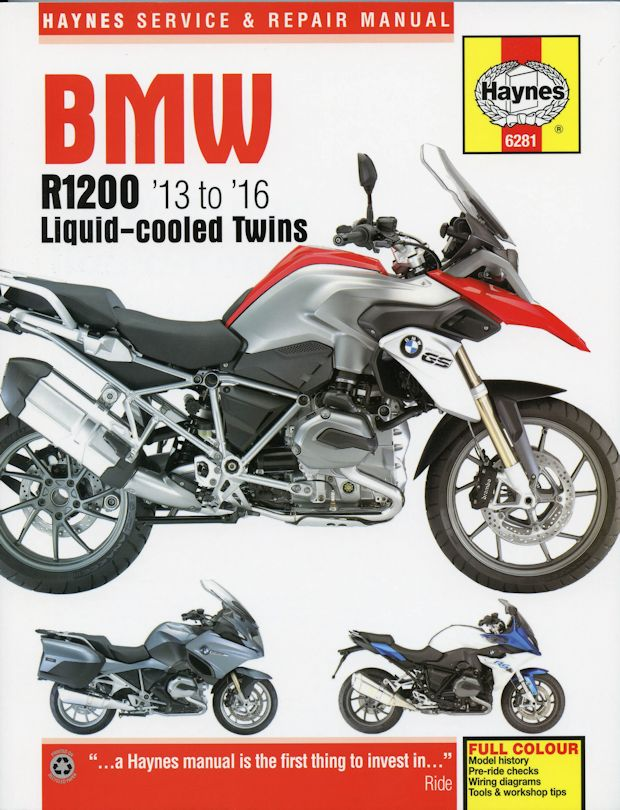 bmw r1200 repair manual liquid cooled twins 2013 2016 haynes rh themotorbookstore com bmw motorcycle manuals free bmw motorcycles manuals