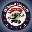 Bonneville Speed Week Wall Clock, LED Lighted: Racing Theme