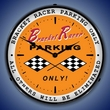 Bracket Racer Parking Wall Clock, LED Lighted: Racing Theme