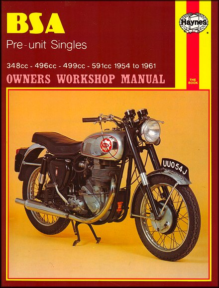 bsa gold star pre unit single repair manual 1954 1961 haynes 326 rh themotorbookstore com Boy Scouts of America Manual Owners Manual Cover