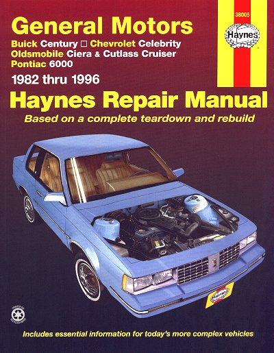 buick century chevy celebrity olds ciera repair manual 1982 1996 rh themotorbookstore com