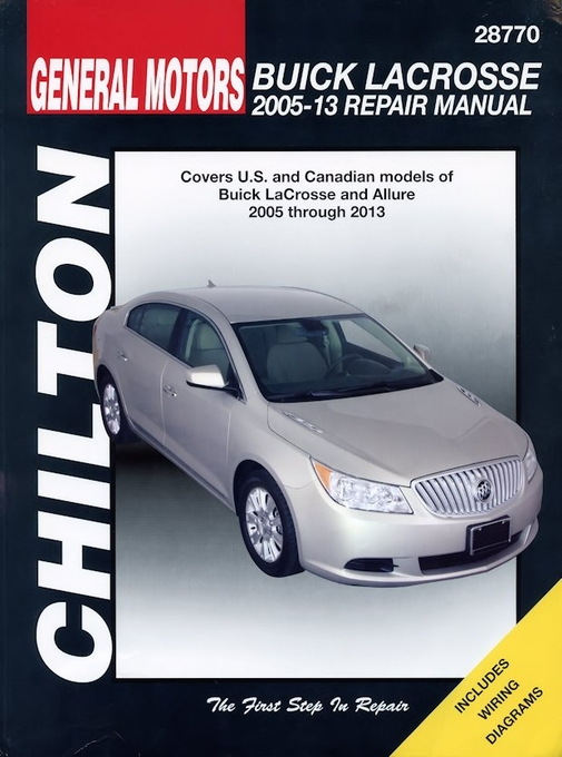 buick lacrosse repair manual 2005 2013 chilton 28770 rh themotorbookstore com 2008 buick lacrosse manual key hole location 2008 buick lacrosse owners manual
