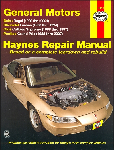 regal cutlass supreme grand prix lumina repair manual 1988 2007 rh themotorbookstore com 2002 Chevy Lumina 2002 Chevy Lumina