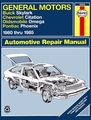 Buick Skylark, Chevy Citation, Olds Omega, Pontiac Phoenix Repair Manual 1980-1985
