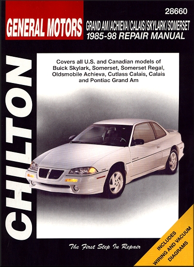 skylark somerset regal achieva calais grand am repair manual rh themotorbookstore com 1998 pontiac grand am manual window regulator Pontiac Grand AM Repair