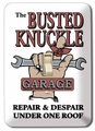"""Busted Knuckle Garage\"" Light Switch Plate"
