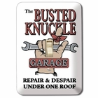 """Busted Knuckle Garage"" Light Switch Plate"
