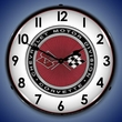 C3 Corvette Logo LED Lighted Clock