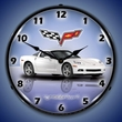C6 Corvette LED Lighted Clock - Arctic White