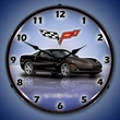 C6 Corvette LED Lighted Clock - Black