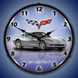 C6 Corvette LED Lighted Clock - Blade Silver