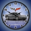 C6 Corvette LED Lighted Clock - Cyber Grey