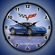 C6 Corvette LED Lighted Clock - Jetstream Blue