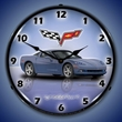 C6 Corvette LED Lighted Clock - Supersonic Blue