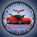 C6 Corvette LED Lighted Clock - Torch Red