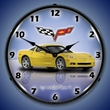 C6 Corvette LED Lighted Clock - Velocity Yellow