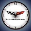 C6 Corvette Logo LED Lighted Clock