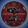 C7 Corvette LED Lighted Clock - Black