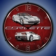 C7 Corvette LED Lighted Clock - Blade Silver