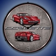 C7 Corvette LED Lighted Clock - Crystal Red