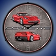 C7 Corvette LED Lighted Clock - Torch Red