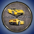 C7 Corvette LED Lighted Clock - Velocity Yellow