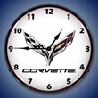 C7 Corvette Wall Clock, LED Lighted
