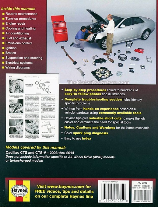 cadillac cts cts v repair manual 2003 2014 rh themotorbookstore com Haynes Manual Pictures Back Lawn Boy 10323 Manual