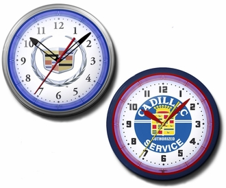Cadillac Neon Clocks, 20 Inch, High Quality