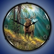 Calling All Challengers Elk Wall Clock, LED Lighted