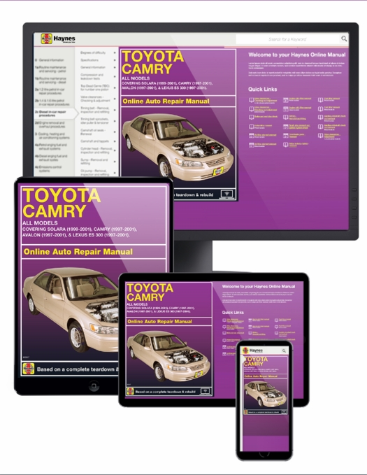 camry solara avalon lexus es 300 online service manual 1997 2001 rh themotorbookstore com 2001 toyota avalon owners manual 2001 toyota avalon service manual pdf