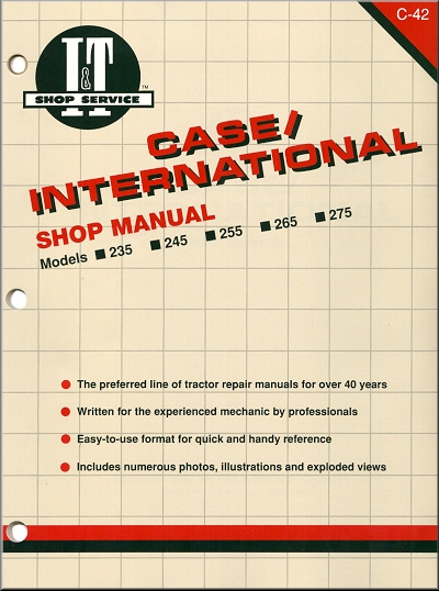Case International Repair Manual 235, 245, 255, 265, 275