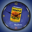 Champlin Oil Wall Clock, LED Lighted