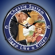 Chessie Sleep Like a Kitten Railroad Wall Clock, LED Lighted