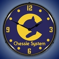 Chessie System Railroad Wall Clock, LED Lighted