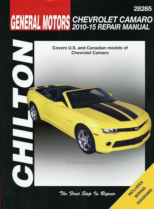 2010-2015 chevrolet camaro service & repair manual by chilton