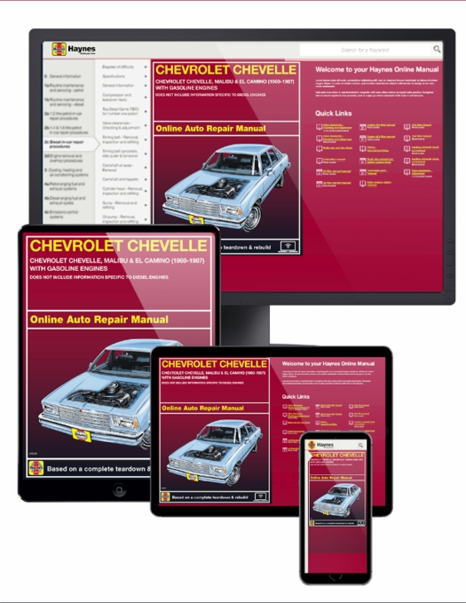 Chevrolet Chevelle Online Service Manual, 1969-1987