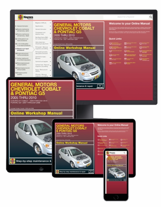 chevrolet cobalt pontiac g5 pursuit online manual 2005 2010 rh themotorbookstore com GM Complaints Motor Truck Repair Manual